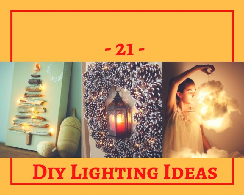 21 Diy Colorful Home Lighting Ideas